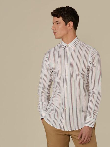 Trussardi 1911国际品牌2020春夏纯棉衬衫长袖