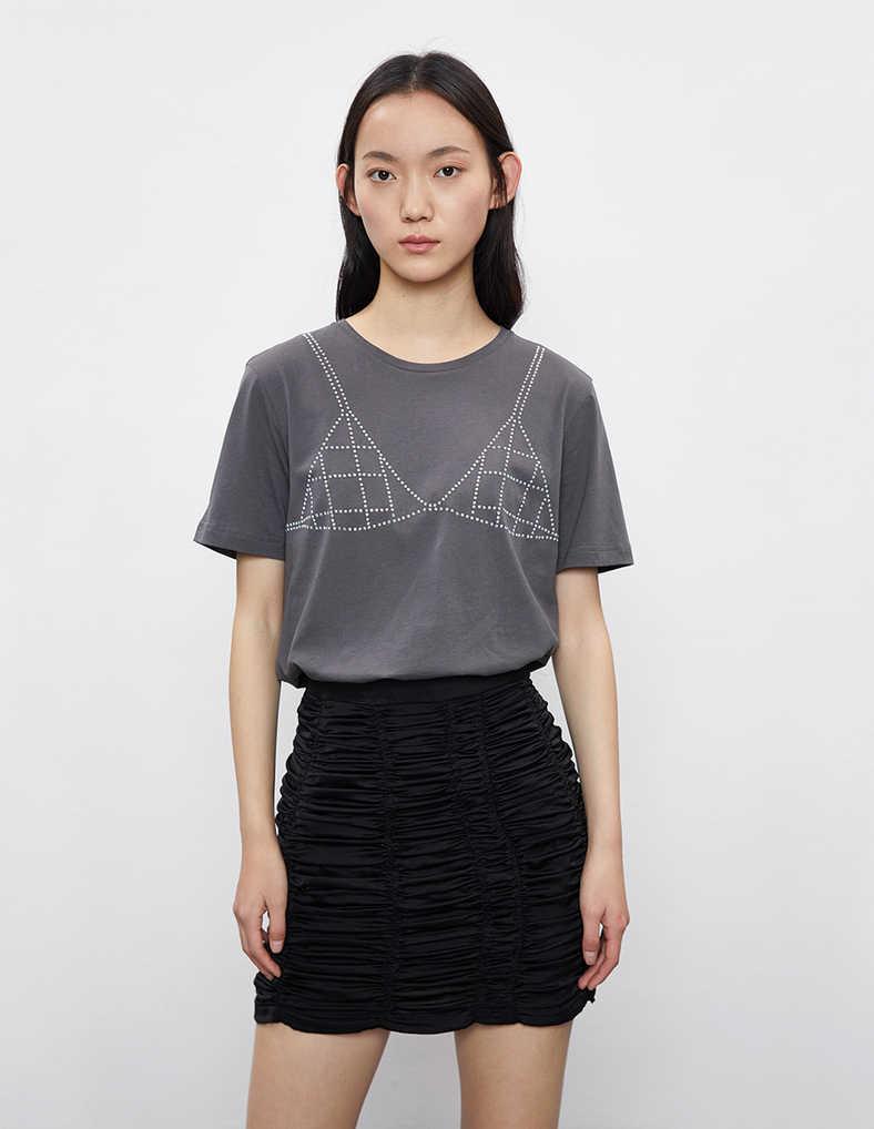 URBAN REVIVO(UR)国际品牌品牌2020春夏圆领纯棉印花短袖