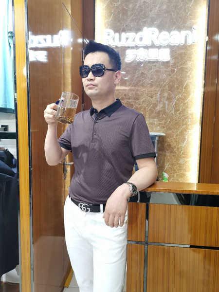 罗东里尼男装品牌2020春夏中老年纯棉polo衫短袖