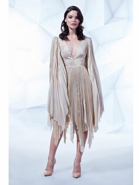MIKAEL D国际品牌品牌梦幻网纱浪漫礼服