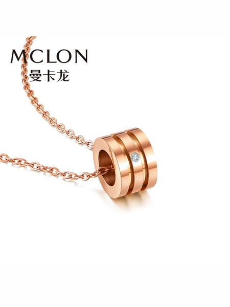 MCLON国际品牌品牌18K金钻石项链 甜蜜之吻单颗钻彩金锁骨链女