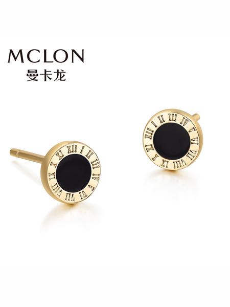 MCLON国际品牌品牌长款彩金耳环女恋极星玫瑰金耳饰耳钉