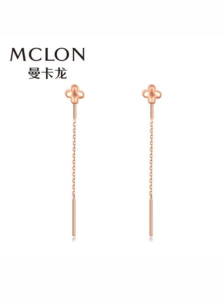 MCLON国际品牌品牌18K金耳线 长款彩金耳环女恋极星玫瑰金耳饰耳钉