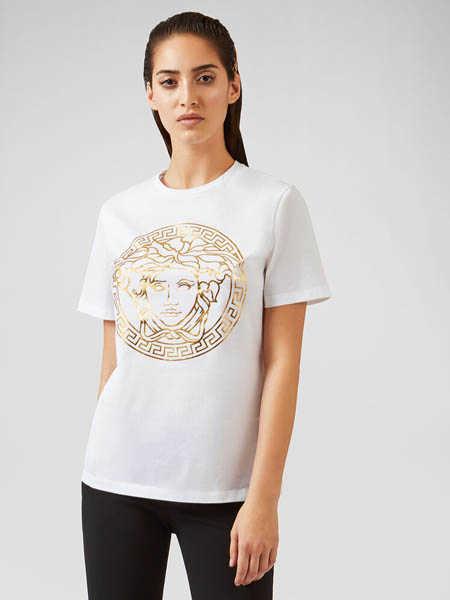 Versus国际品牌圆领纯棉轻肤T恤