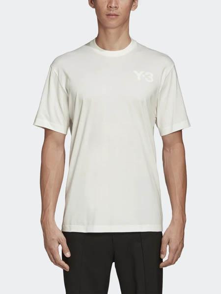 Y-3×Adidas国际品牌品牌纯色纯棉圆领短袖