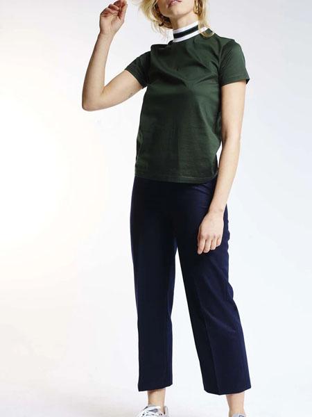 harmony国际品牌品牌修身短款短袖上衣