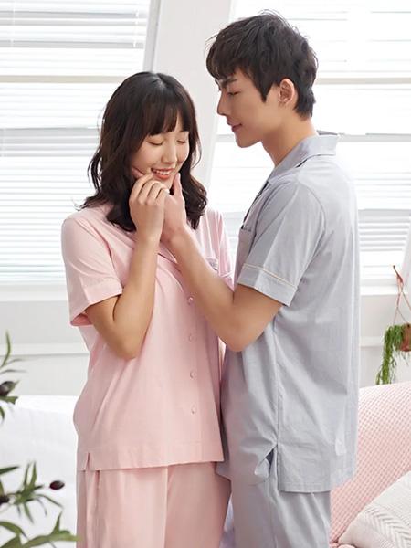 康丽妍女装品牌2020春夏灰色浅粉色睡衣
