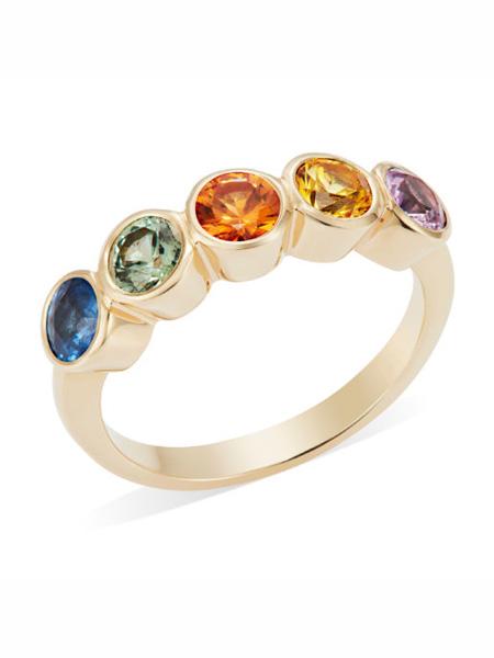 Lily Kamper国际品牌简约设计感玫瑰金戒指