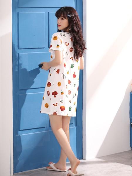 芬腾可安内衣品牌2020春夏时尚纯棉轻肤睡裙