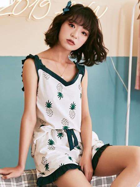 芬腾可安内衣品牌2020春夏纯棉短袖睡衣套装