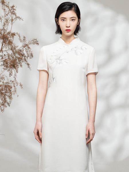 CHOICE YIN女装品牌2020春夏白色优雅旗袍