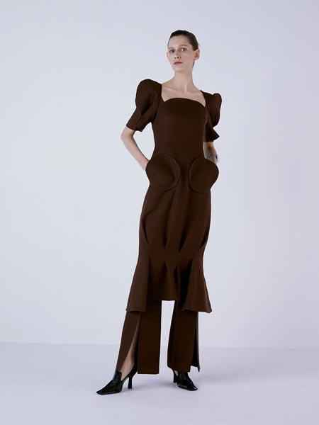 FAYEWOO国际品牌品牌时尚复古连衣裙