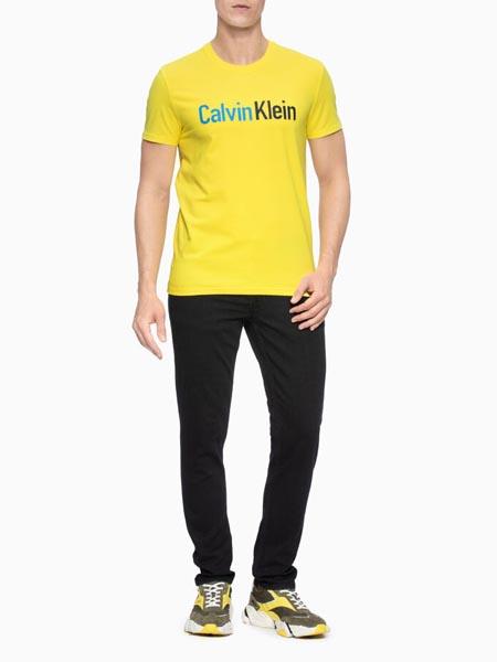 CALVIN KLEIN JEANS国际品牌纯棉印花T恤