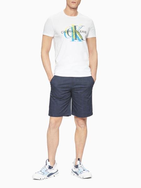 CALVIN KLEIN JEANS国际品牌白色字母印花短袖