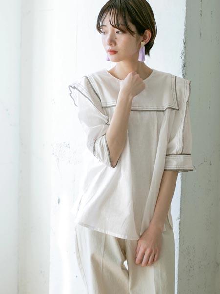 Kloset国际品牌棉麻半袖上衣