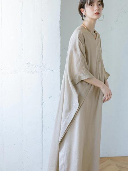 Kloset国际品牌时尚棉麻复古连衣裙