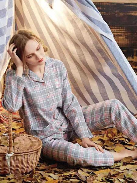 诺黛尔内衣品牌2020春夏大格纹睡衣