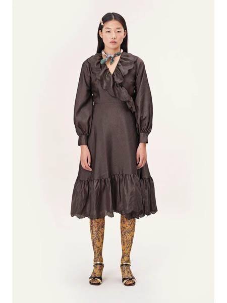 Stine Goya国际品牌丝绸宽松蓬蓬裙