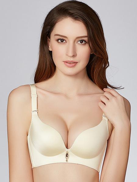雅歌莉内衣品牌性感蕾丝美背少女内衣 小胸聚拢无钢圈文胸深V上托调整型胸罩