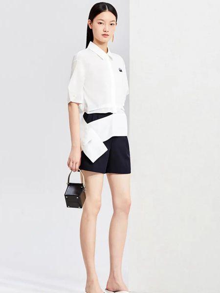 FUUNNY FEELLN仿佛女装品牌2020春夏时尚衬衫短袖