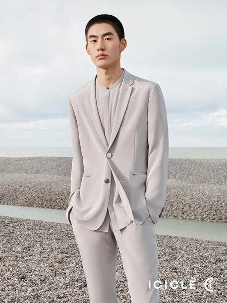 ICICLE女装品牌2020春夏灰色西装套装