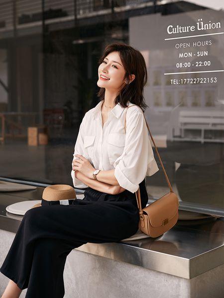 宝洛莎女装品牌2020春夏白色衬衫