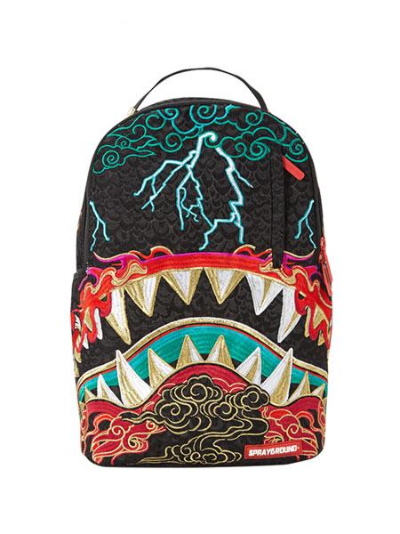 Sprayground箱包品牌基本款双肩电脑包背包书包旅行包男女潮刺绣