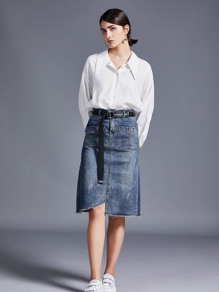 尼赫菲女装品牌2020春夏白色衬衫简约