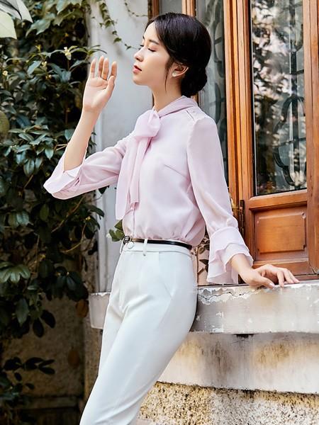 XIAOZI筱姿女装品牌2020春夏丝绸顺滑职场衬衫