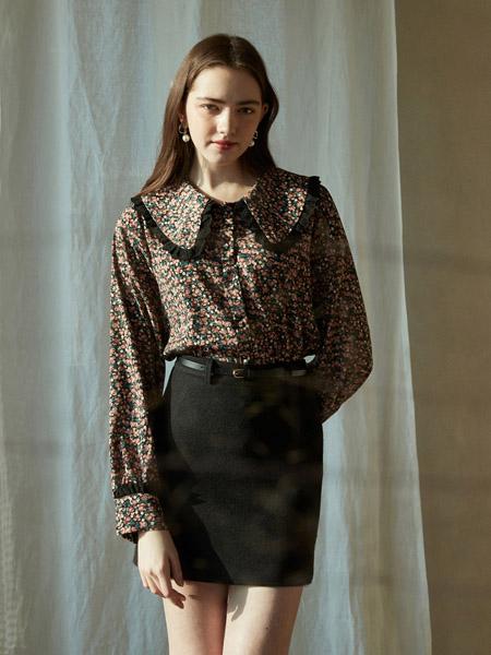 INUSWAY女装品牌2020春夏碎花衬衫