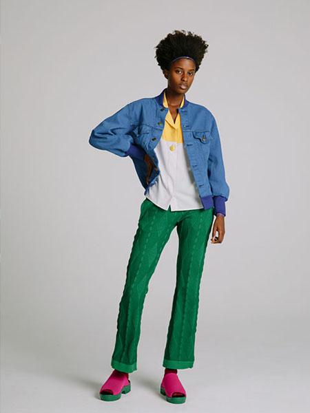 77circa女装品牌2020春夏蓝色外套