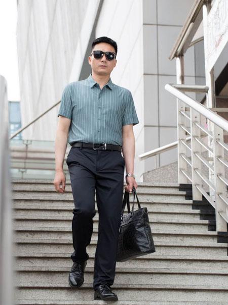 �_卡�_S.ALCAR男�b品牌2020春夏�Q�y青�{色�r衫