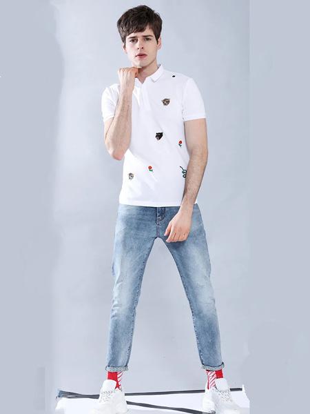 莎斯�R思女�b品牌2020春夏白色卡通�游镄☆^T恤