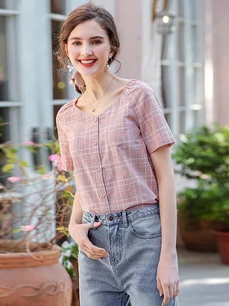 艾蓓怡女装品牌2020春夏棉麻衬衫上衣