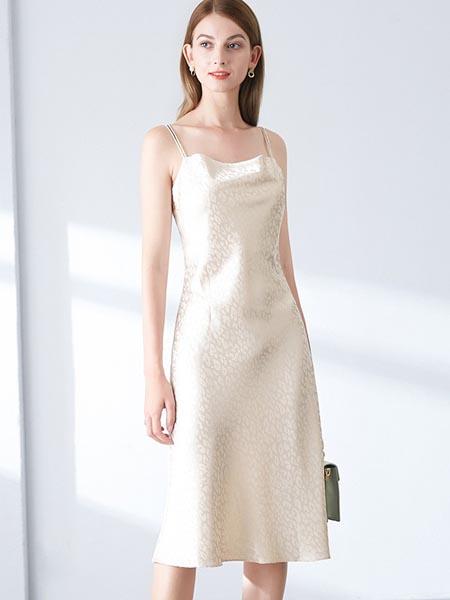 ONEBUYE晚白女装品牌2020春夏丝滑修身性感吊带裙