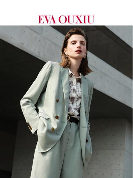 伊华·欧秀女装品牌2020春夏气质简约帅气西装复古双排扣气质西装外套