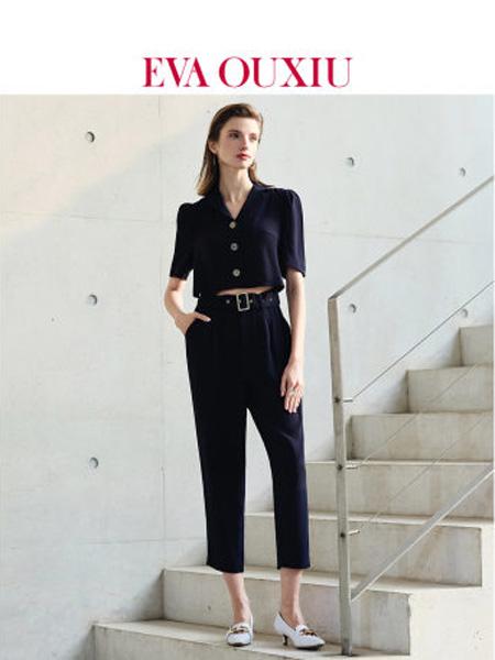 伊华·欧秀女装品牌2020春夏时尚露腰性感连体裤五分袖气质连身长裤