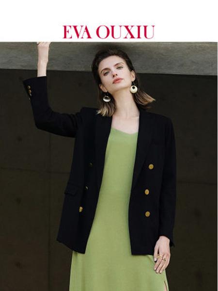 伊华·欧秀女装品牌2020春夏通勤OL百搭黑色小西装女韩版休闲双排扣外套