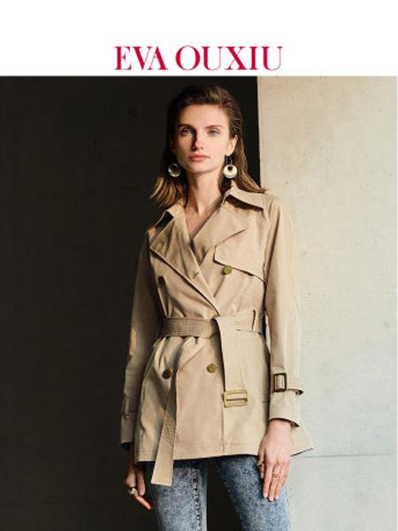 伊华·欧秀女装品牌2020春夏女装休闲刺绣双排扣短外套