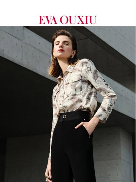 伊华·欧秀女装品牌2020春夏复古印花衬衫设计感港味长袖衬衣