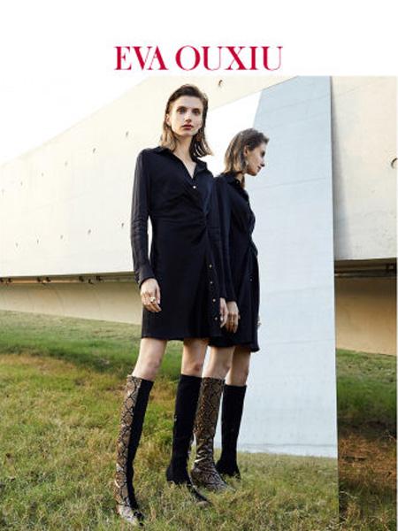 伊华·欧秀女装品牌2020春夏绸缎新款时尚衬衫裙收腰显瘦长袖凉感简约连衣裙