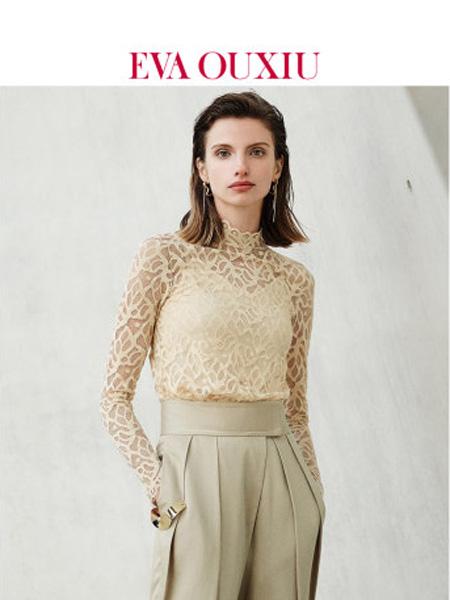 伊华·欧秀女装品牌2020春夏复古法式蕾丝衫浪漫两件套长袖打底上衣