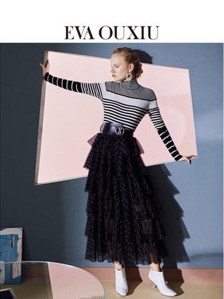 伊华·欧秀女装品牌2020春夏时尚韩版中长款蛋糕裙ins超火字母半裙