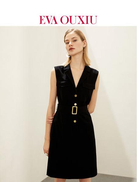 伊华·欧秀女装品牌2020春夏高冷御姐风成熟收腰显瘦气质简约西装连衣裙