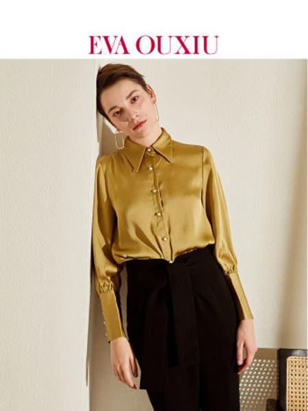 伊华·欧秀女装品牌2020春夏时尚小衫设计感小众法式复古灯笼袖上衣
