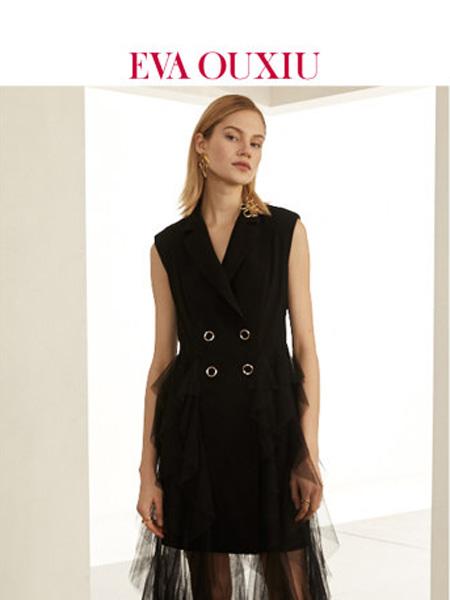伊华·欧秀女装品牌2020春夏女神的新衣推荐仙女裙帅气黑色西装连衣纱裙