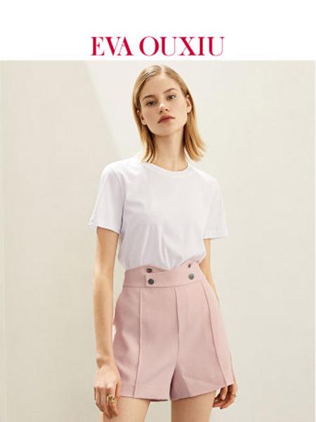 伊华·欧秀女装品牌2020春夏时尚气质高腰短裤直筒纯色显瘦西装裤子