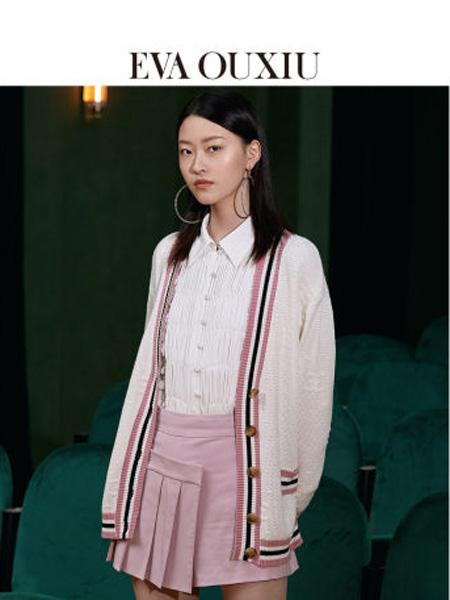 伊华・欧秀女装品牌2020春夏新款时尚洋气木耳边衬衣系带收口