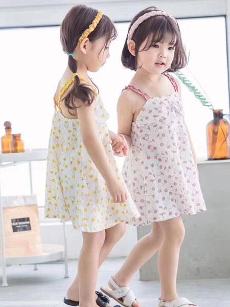 宾果童话童装品牌2020春夏女童甜美吊带裙