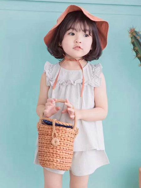 宾果童话童装品牌2020春夏棉麻【娃娃衫女童短袖